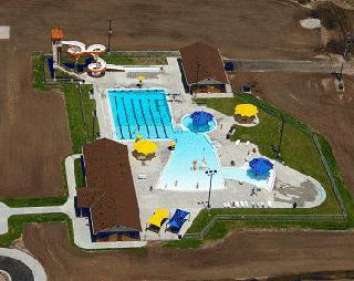Aerial picture of pool