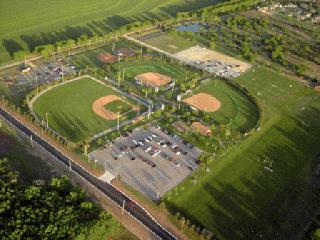 Aerial View of Sports Complex
